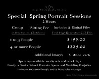 Portrait Price List 16x20  2014 12 15
