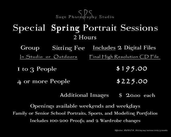 Portrait Price List NEW  10 01 14